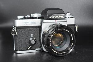 A10-105 ミノルタ minolta XEb MC ROKKOR-PF 1:1.7 f=50㎜ 一眼レフカメラ レンズセット ジャンク品