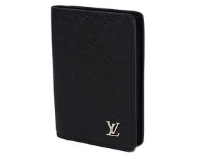 富士屋◆送料無料◆ルイヴィトン LOUIS VUITTON オーガナイザー・ドゥ・ポッシュ M30283 タイガ ノワール カードケース 新品同様