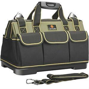 ★送料無料 最速発送★ 工具差し入れ ベルト付 ツールバッグ 大口収納 工具バッグ 道具袋 1680Dオックスフォード 工具袋 Drado