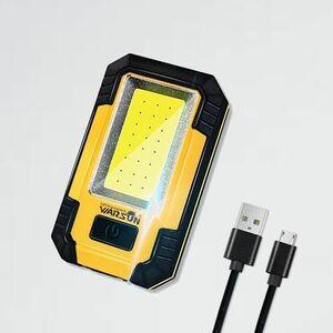 新品 好評 作業灯 WARSUN P-83 黄色 日本語説明書付き led作業灯 投光器 ワ-クライト led 充電式 ハンディライト ランタン 30W