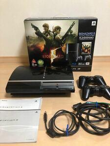 【PS3 本体 80GB】バイオハザード5 プレミアムリミテッドBOX プレイステーション3 (ソフトなし)