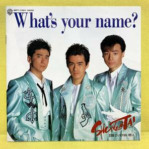 EP■盤美■少年隊■What's your name?/いけない恋人■ブック式ジャケ,ハガキ付■'88■即決■レコード