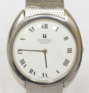 UNIVERSAL GENEVE ユニバーサルジェネーブ 手巻き 腕時計 842111 2針 メンズ ウォッチ 白文字盤 稼働品 211026F(NT)