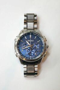 稼働品☆セイコー【SEIKO】BRIGHTZ ブライツ フライトエキスパート SAGA191 8B92-0AB0 青文字盤 腕時計 メンズ 211018VT