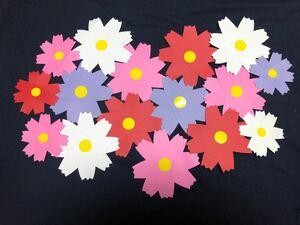 壁面飾り 保育園 児童館 ハンドメイド 花