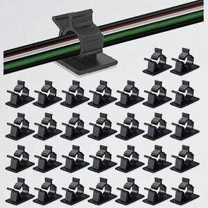 新品 未使用 30個セット ケ-ブル収納 L-W1 by MAVEEK(マビ-カ) 4階段調節可能なケ-ブルホルダ- コ-ドクリップ コ-ドフック