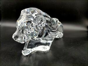 バカラ ライオン クリスタル Baccarat 置物 インテリア ガラス 獅子 オブジェ 長さ27cm 重さ2.1kg