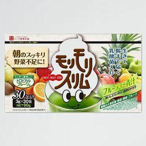 新品 未使用 モリモリスリムフル-ティ-青汁 ハ-ブ健康本舗 L-2P 乳酸菌 配合 3g×30包 トロピカルフル-ツ味 九州産 大麦若葉