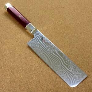関の刃物 菜切り包丁 16.5cm (165mm) 三昧 荒波 VG-10 VG-2 コアレス鋼ステンレス 赤合板 野菜全般 両刃包丁 千切り 大根かつらむき 日本製