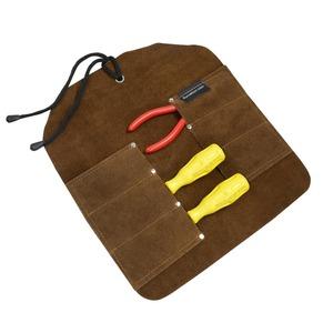 UJ RAMELSON ツールロール 工具入れ レザー製 [ 6ポケット ] UJラメルソン ツールホルダー ツールバッグ ツールポケット 革 作業ポーチ