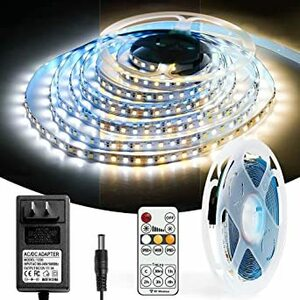 ledテープライト 電球色・昼白色・昼光色 5m 3色のテープライト 2835SMD 部屋 RFリモコン 黄色 白色 調光調色