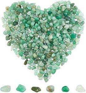 緑 SUNNYCLUE 約400個 天然石 さざれ石 アベンチュリン 穴あり 砂金石 ブレスレット パワーストーン チャーム チ