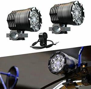 ホワイト 単一発光パターン Catland バイク フォグランプ 補助灯 ヘッドライト led 作業灯 ワークライト スイッチ付