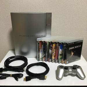 PLAYSTATION3(CHCEL00)80GB&ソフト9本