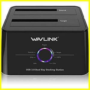 Wavlink USB 3.1タイプ C(USB C)SATAデュアルベイ外付けハードドライブドッキングステーション2.5/3.5インチSSD HDD SATA I/II/IIIサポート