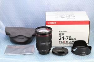 ■【超美品】■ Canon キヤノン EF 24-70mm F2.8L Ⅱ USM ■2型■珠玉の大三元レンズ■付属品多数■動作確認済み■ zh13840xr