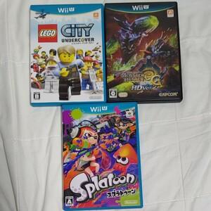 WiiUソフト 3本セット スプラトゥーン レゴシティモンハン3G