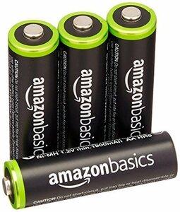 限定価格!Amazonベーシック 充電池 充電式ニッケル水素電池 単3形4個セット (最小容量1900mAh、約1000回8YYM