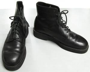ワイズフォーメン ヨウジヤマモト:厚底 レザー ブーツ ( 靴 シューズ Y's for Men Yohji Yamamoto Leather Boots Small Size
