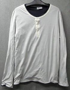 ヨウジヤマモト プールオム:二重 カットソー ( ロンT Tシャツ シャツ Yohji Yamamoto pour Homme Double fabric Long Sleeve Tee