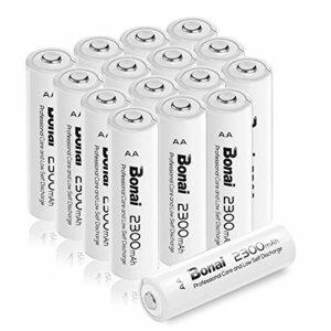 限定1点♪Bonai 単3形 充電池 充電式ニッケル水素電池 16個パック PSE/CEマーキング取得 UL認証済み(高容量2