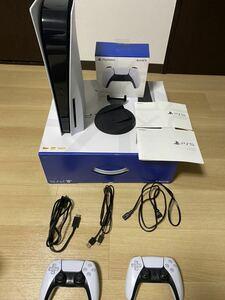 【中古 良品】PlayStation 5 通常版 CFI-1100A01 ディスクドライブ搭載モデル 本体 PS5 別コントローラー付き