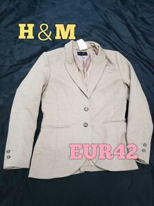 H&M/テーラード/ジャケット/ブラウン/EUR42(M)