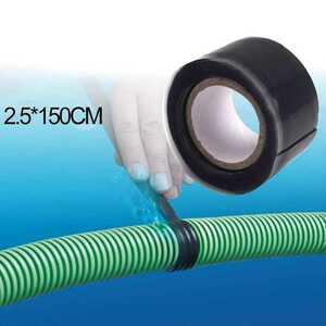 防水シリコンテープ ブラック 超強力!2.5cm×150cm漏れ防止、修理テープ(ボート 漁業 漁具 ヨット 前部灯 後部灯 船外機 船 和船 )
