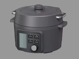 IRIS OHYAMA アイリスオーヤマ●2WAY 圧力調理器 KPC-MA2 電気圧力鍋 時短 グリル鍋 自動調理 /ブラック/2.2L/難有/1円スタート/XB