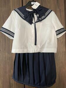 新品未使用 セーラー服 3点セット Mサイズ コスプレ ハロウィン 衣装 仮装 女子高生 制服