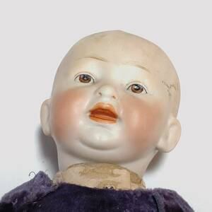 ビスクドール アンティ―クドール 142 2 全長約225㎜ 古い人形 洋風 【2874】