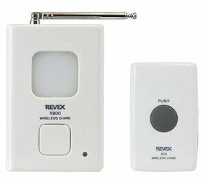 新品リーベックス(Revex) ワイヤレス チャイム Xシリーズ 送受信機セット インターホン 呼び出しチャイムセッNK8B