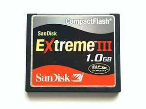 【1枚限り】☆美品☆ CFカード 1GB サンディスク エクストリームIII SanDisk Extreme III コンパクトフラッシュ CompactFlash Card