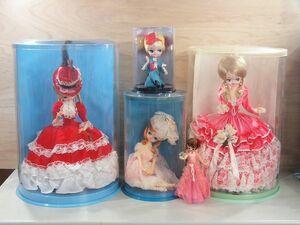■当時物 大型 ポーズ人形 スキヨ リボン ミツバ DOLL フランス人形 美少女 乙女 昭和レトロ レトロポップ ビンテージ■