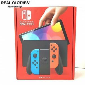 【美品】任天堂 Nintendo Switch/ニンテンドー スイッチ 有機ELモデル 本体 HEG-S-KABAA ネオンブルー・ネオンレッド /080