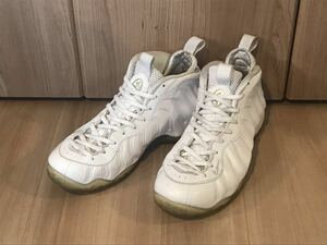 NIKE AIR FOAMPOSITE ONE WHITE OUT ナイキ エア フォームポジット USA10 28cm 検) CONVERSE adidas vans ダンク ジョーダン DUNK FORCE1