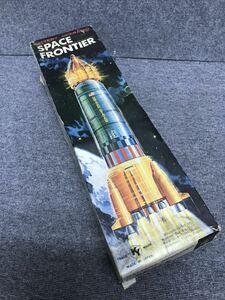 当時もの◎Yoshino Toy 吉野トーイ☆ SPACE FRONTIERスペース フロンティア ブリキ アポロロケット☆