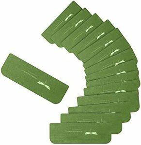 グリーン 階段マット 滑り止めマット 蛍光 吸着 滑り止め キズ防止 防音 折り曲げ おしゃれ 洗える 15枚入り (グリーン)