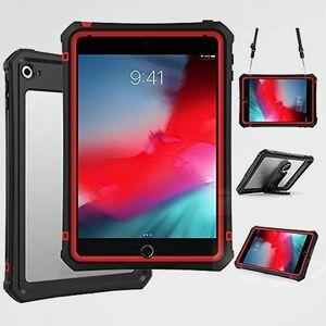 未使用 新品 mini4 iPad Z-6Y 7.9インチ対応 レッド赤 防水ケース iPad mini5 防水カバー IP68規格 防水 防塵 耐衝撃 全面保護
