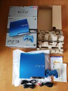 美品 PS3本体 PlayStation3 PS3 CECH-3000B SB スプラッシュブルー プレイステーション3 SONY 動作確認済 最新アップデート済 送料無料