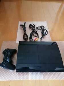 美品 PS3本体 PlayStation3 PS3 チャコールブラック 500GB CECH-4300C プレイステーション3 SONY 動作確認済 最新アップデート済 送料無料
