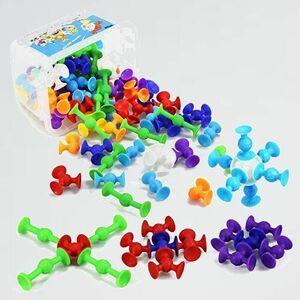 新品 目玉 98個セット 新感覚知育ブロック R-L4 男の子 女の子 吸盤 おもちゃ 知育玩具 積み木 組み立て お風呂のおもちゃ
