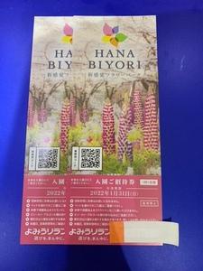【最新】HANABIYORI 入園ご招待券2枚 よみうりランド