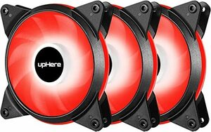 赤い Novonest 120mm 冷却LEDファン PCケース用 静音タイプ 25mm厚 600-1700rpm&plusmn