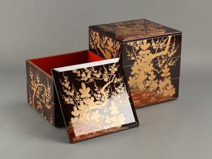 【流】時代漆器 時代蒔絵五段重箱 箱付 DA185