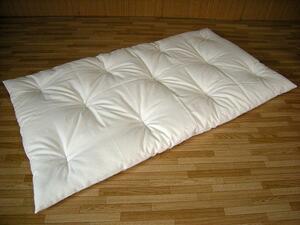 安心の綿100% 手作りお昼寝布団 生成り(70×120cm)