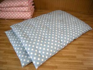 安心の綿100% 手作りお昼寝布団1組 ドット柄ブルー