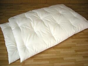 安心の綿100% 手作りお昼寝布団1組 生成り