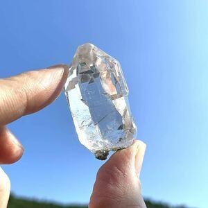 ヒマラヤ水晶 マニハール産 カテドラル入りクリスタル ポイント 35 インド