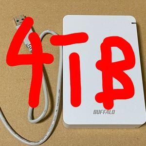 BUFFALO ポータブルHDD 4TB USB3.1 PC対応HD-PGF4.0U3-GWHA